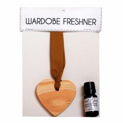 Elmi-Jali wooden heart wardrobe freshener fragrance oil 11ml