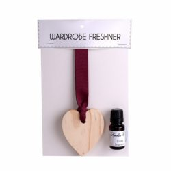 Sophia E wooden heart 11ml fragrance oil wardrobe freshener