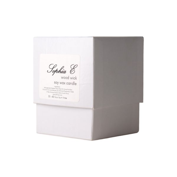-Sophia E wood wick soy candle in gift box 1