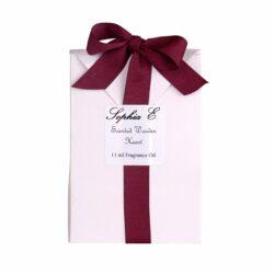Sophia E wooden scented heart 11ml fragrance oil in gift bag
