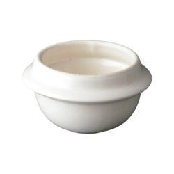 Ceramic burner bowl for wooden burner
