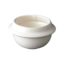 Ceramic burner bowl for wooden burner