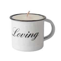 JE Living fragrance enamel mug aroma candle 6cm – LIGHT ME AND BE HAPPY