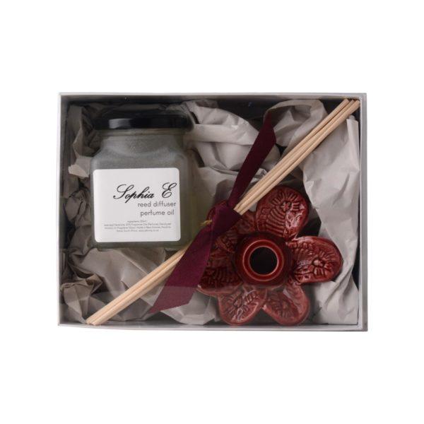 Sophia-E-reed-diffuser-ceramic-flower-100ml-in-gift-box