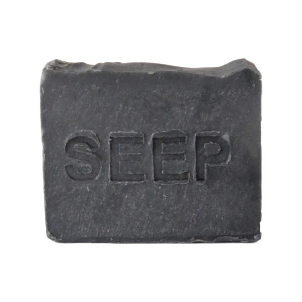 SEEP handmade activated charcoal wrapped soap 150g
