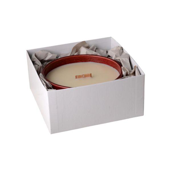 -Sophia E wood wick soy wax mood candle in gift box 1